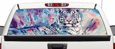 Tiger art big cat window Wrap rear graphics Decal Sticker 66'' x 22'' SUV TRUCK