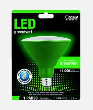 FEIT Electric GREEN LED Bulb PAR38 E26 Medium 120 Watt Equivalence Weatherproof