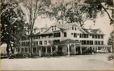 VTG Sharon Inn Street View Old 1940s Cars in Sharon Connecticut CT Postcard A11