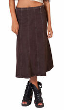 Gonne e minigonne da donna, taglia comoda marrone
