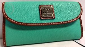 NWT*Dooney & Bourke Leather*Jade Green* Continental Clutch Wallet*18245J S166