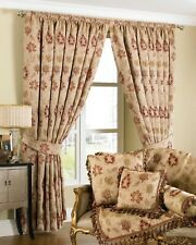 Zurich Floral Pencil Pleat Chenille Jacquard Fully Lined Ready Made Curtains 66
