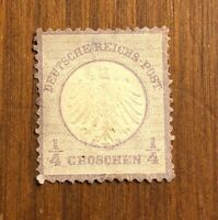 Germany #1 Eagle small shield M OG H 1872 cv $190