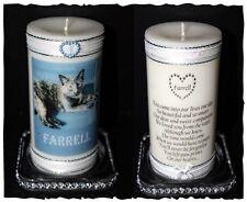Cat Memorial Personalised Photo Keepsake of beloved pet  Cellini Candles