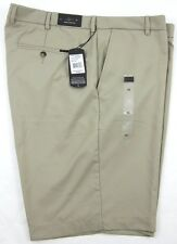 NWT! Greg Norman Golf Flat Front Shorts Natural Performance Khaki Size 42