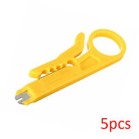 5pcs RJ45 LAN Network Cat5e Cat6 Cable Wire Punch Down Stripper Cutter Tool