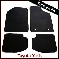 TOYOTA YARIS 3-Door Mk1 / XP10 1999-2005 Tailored Carpet Car Floor Mats BLACK