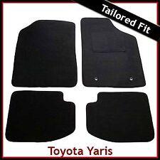 TOYOTA YARIS 3-Door Mk1 / XP10 1999-2005 Tailored Carpet Car Floor Mats BLACK