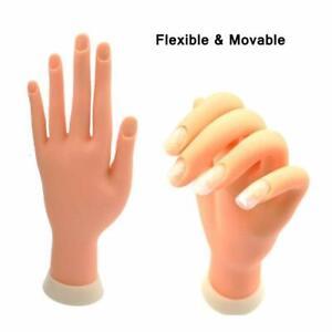 Practice Nail Art Trainer Training Left Hand Acrylic Gel False Tool Finger Model