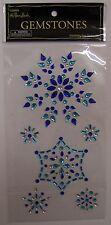 "Paper Studio Gemstones SNOWFLAKES gems 3D Stickers Winter 4X7"""