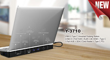 USB C Docking Station 1x HDMI 4K 1x SD Kartenleser 1x GLAN 3x USB 3.0 1x USB-C H