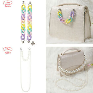 2Pcs Universal Pearls Chain Phone Case Anti-Dropping Accessories Wrist Straps