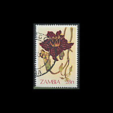 Zambia, Sc #231, Used, 1983,  Flowers, Flora, A350