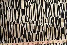 "100% Cotton Batik Fabric """"Concerto"" by Robert Kaufman, Black w/Cream/Yellow/SBr"