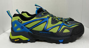 Men's Merrell Capra Sport Gore-Tex J65037 Hiking Black Lime Green Size 11.5