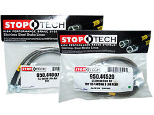 Stoptech Stainless Steel Braided Brake Lines (Front & Rear Set / 44007+44520)