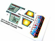 MOTU He-man Masters of the Universe Land Shark replacement Sticker