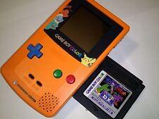 Excellent Nintendo Gameboy Color Pokemon Limited edition Orange color console-D1