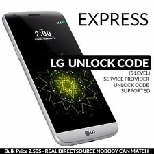 UNLOCK CODE LG G5 LG G4 G3 NEXUS 5X K4 F4NR H812 AT&T CRICKET T-MOBILE BELL