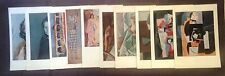 1955 Vintage PABLO PICASSO offset lithographs lot of 10 Full Color Plate prints