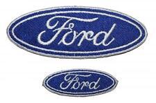 FORD LOGO insignes Brodé Patch coudre/thermocollant 5cm ou 10cm 15.25 20cm Bleu