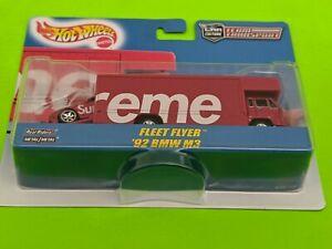 Supreme Hot Wheels Fleet Flyer + 1992 BMW M3 Red