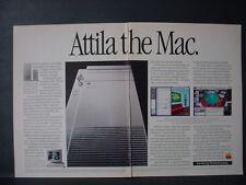 1991 Apple Mac Macintosh Quadra 900 Attila Mac Vintage Computing Print Ad 11327