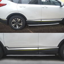 Chrome stainless steel body side door mouldings cover trim for 2017-18 Honda CRV