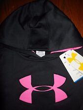 NWT Under Armour Cold Gear Big Logo Sweatshirt Hoodie Girls Youth Size LG CUTE!
