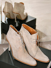 JEAN PAUL GAULTIER nude beige talon haut Bottines à lacets Immaculate Condition