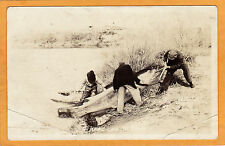 Surreal Real Photo Exaggeration Postcard RPPC - Hard One to Land #60 F D Conard