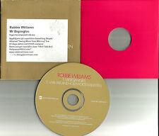 ROBBIE WILLIAMS Mr Bojangles / I will Talk 2TRX EUROPE Made PROMO CD single 2002