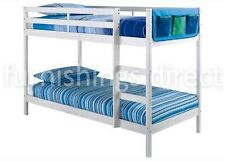 Modern Design 2ft6 Shorty White Pine Bunk Bed With 2 X Sprung Flex Mattresses