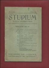 Rivista Universitaria Studium Anno III N. 5 Maggio 1908 Lotta Scolastica Belgio