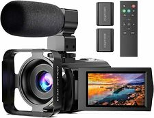 Video Camera Microphone HD 1080P 24MP Digital Vlogging YouTube Camera 16X Zoom