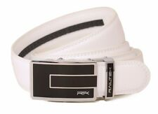 Railtek Belts - Men's One Size Ratchet Belt - Carbon Buckle with White Leather