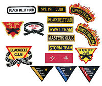 Martial Arts Team, Club, Competition, Demo, Black Belt Patches Sew-on Patch