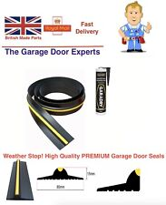 2.9M Garage Door Rubber Floor Seal & Adhesive 15mm High Weather Stop Draughts