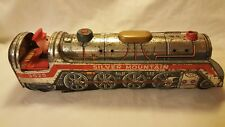 Vintage Silver Mountain 3525 Toy Tin Train and Conductor