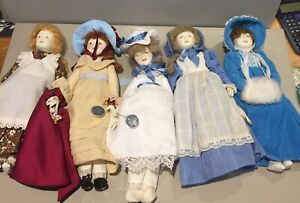Royal doulton and Nisbet 1982 1981 porcelain girl women figure dolls Vintage 80s