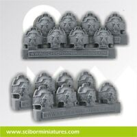 Scribor Miniatures: Lion Shoulder Pads #2 (8) - SMM-CPSH0067