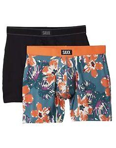 Saxx Underwear 25321 Mens Multi Daytripper Fly Boxer Briefs 2-Pack Size Large