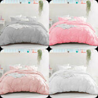 PINTUCK BEDDING SET DUVET QUILT COVER SINGLE DOUBLE KING SIZE with PILLOWCASES
