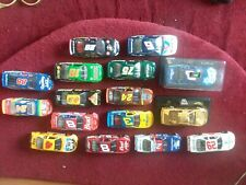 Lot Of (16) NASCAR Die-Cast cars 1/24 Scale nice mix