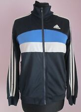 Vintage Enfants Adidas Bleu Marine/Blanc/Bleu Survêtement Sport Top 11-12 ans (95e)