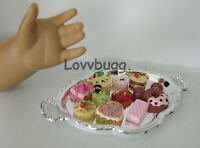 10 Treats Cakes on Oval Tray for American Girl Doll Food Accessory incl Wellie
