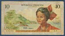 DOM-TOM - ANTILLES 10 FRANCS Pick n° 8. de 1964. en TB   A.6 13338