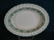 "Copeland Spode Valencia Green Oval 10"" Vegetable Serving Bowl"