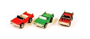 3 CLASSIC GALOOB MICRO MACHINES 1959 CADILLAC CONVERTIBLE MIXED VINTAGE CARS
