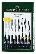 Faber-Castell Pitt Artist Pen -Sets black set of 8. Shipping is FREE!! -NEW!!!
